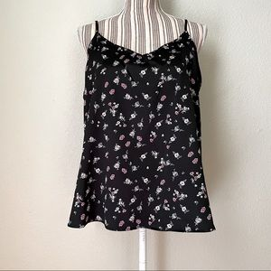wild fable Adjustable Floral Camisole Black L